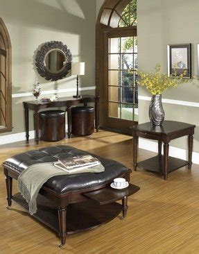 Tufted leather ottoman coffee table w. Coffee Table With Pull Out Ottomans - Foter