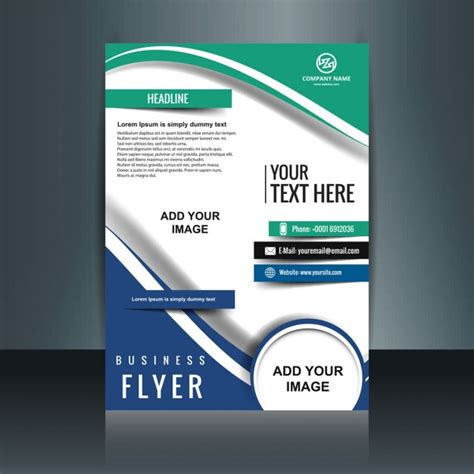 Colorful Corporate Business Flyer Template Psd File Free Colorful Business Flyer Vector Free