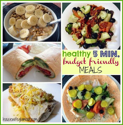 cheap healthy dinners quick healthy budget friendly meals 5 minutes or less fitfluential lunch pinterest