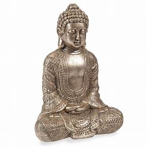 statuette bouddha h 23 cm kibungo maisons du monde With maison du monde bouddha
