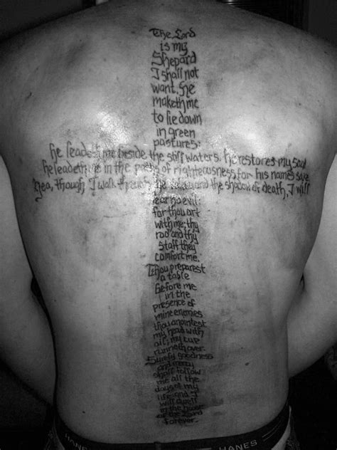 40 Psalm 23 Tattoo Designs For Men - Bible Verse Ink Ideas