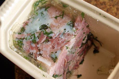 cuisiner le jarret de porc terrine de jarret de porc en gelée recette de jarret de