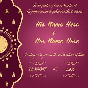 wedding invitation cards for friends online editing With indian wedding invitation online editing