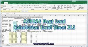 Download Ashrae Heat Load Calculation Excel Sheet Xls