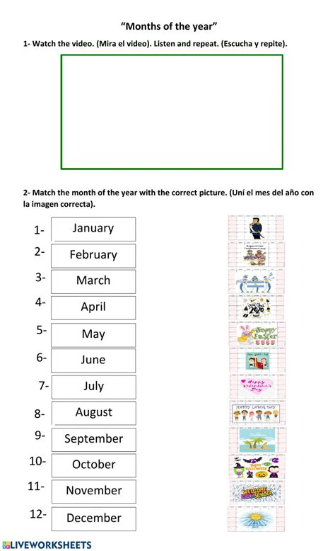 Months of the year: English as a Second Language (ESL ...