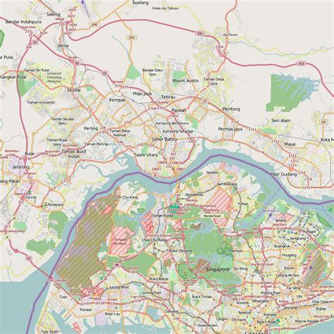 large johor bahru maps     print high