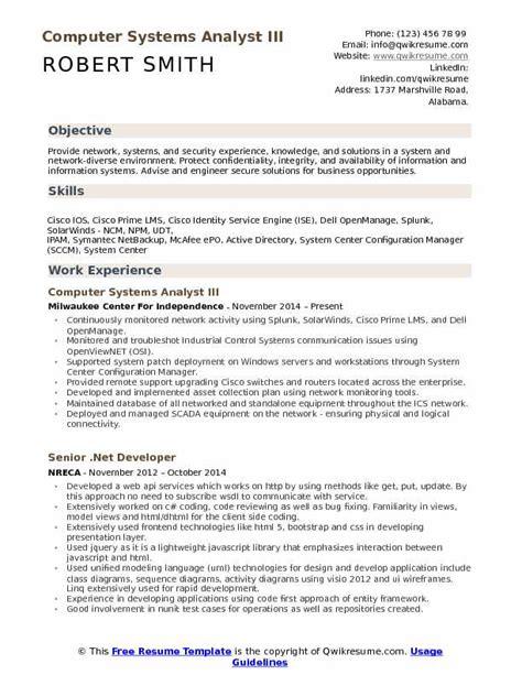 sle resume information system analyst danaya us