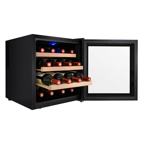 thermoelectric wine cooler akdy 16 bottle single zone thermoelectric wine cooler in