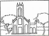 Coloring Monastery Abbey Town Pages Coloringpages101 Template Buildings sketch template