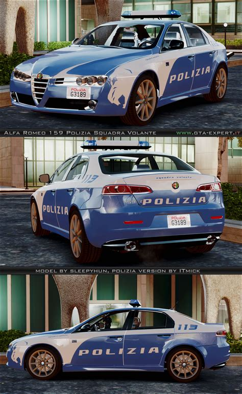 polizia squadra volante alfa romeo 159 polizia squadra volante 187 alfa romeo 187 auto