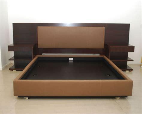 modern king platform bed frame built  side table