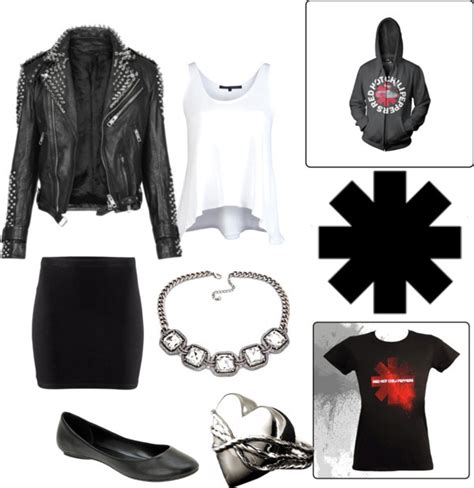 What to Wear to a Red Hot Chili Pepperu0026#39;s Concert | Polyvore Concert wear and Studded leather jacket