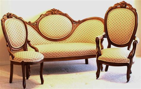 Settee Set by 3 Pc C 1880 S Walnut Settee Including