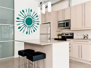 15 easy ways to add color to your kitchen hgtv for Kitchen colors with white cabinets with wall bedroom stickers