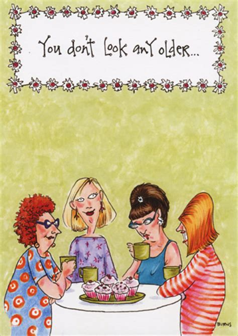 women  table  cupcakes funny humorous birthday card