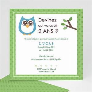 Texte Anniversaire 1 An Garçon : invitation anniversaire gar on chouette une f te ~ Melissatoandfro.com Idées de Décoration