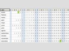 Calendario 2015 en Excel Excel Total