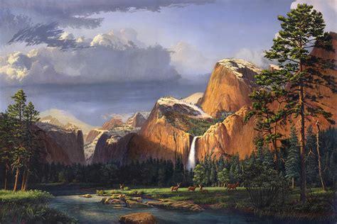 Deer Meadow Mountains Western Stream Deer Waterfall