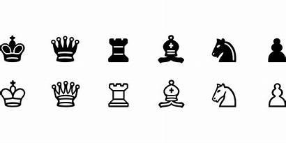 Chess Pieces Symbols Clip Vector Svg Printable