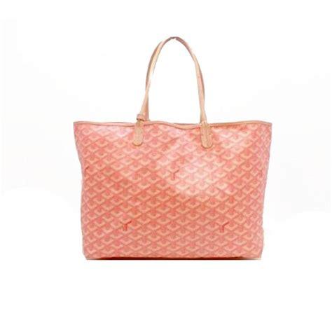 goyard pink canvas leather signature st louis travel