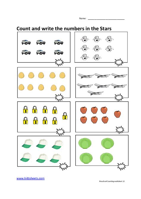 preschool counting numbers worksheets free printables
