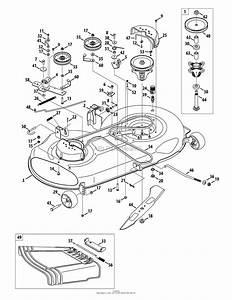 Mtd 13al771t004  2010  Parts Diagram For Mower Deck 46