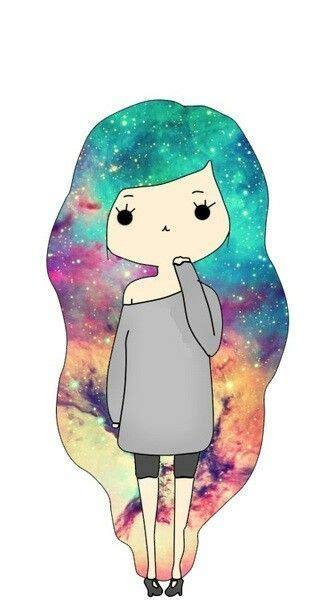 galaxy hairstyle tumblr