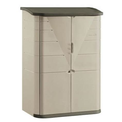 rubbermaid 2 ft x 4 ft large vertical storage shed