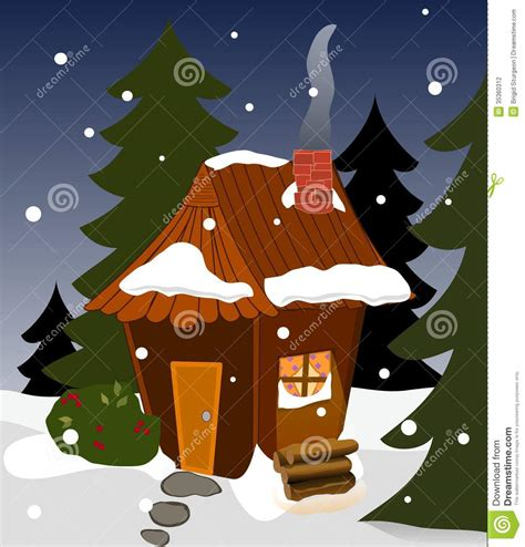 cozy winter cabin stock vector image  house pine