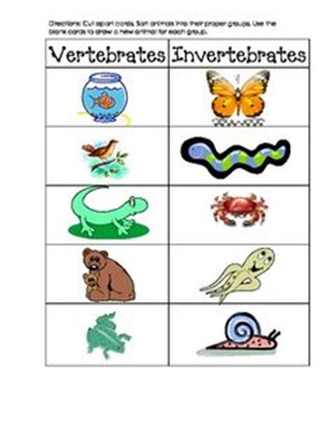 Here's a set of vertebrate cards for sorting