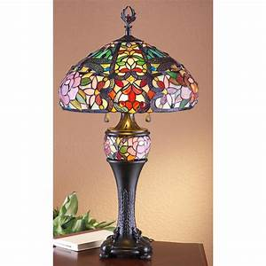 Jj pengr stained glass tiffany style table lamp for Miss k table lamp closeout special