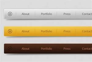 horizontal menu design in three colors psd file free With horizontal menu templates free download