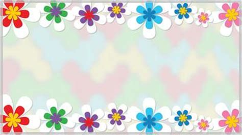spring flower border  background choice