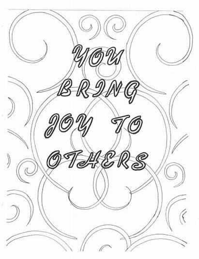 Coloring Joy Others Bring Pages Quotes Self