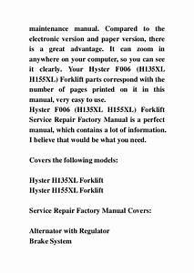 Hyster H155xl Parts Manual