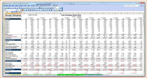 6 business plan spreadsheet template excel spreadsheets