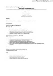 Resume Of Service Career by Resume Sles Customer Service Free Resumes Tips