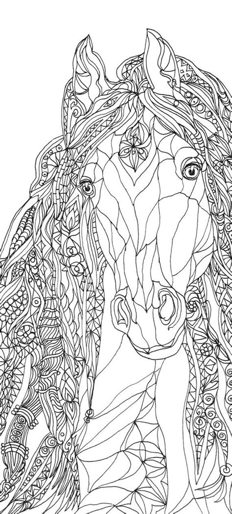 Coloring pages Horse Printable Adult Coloring book Clip