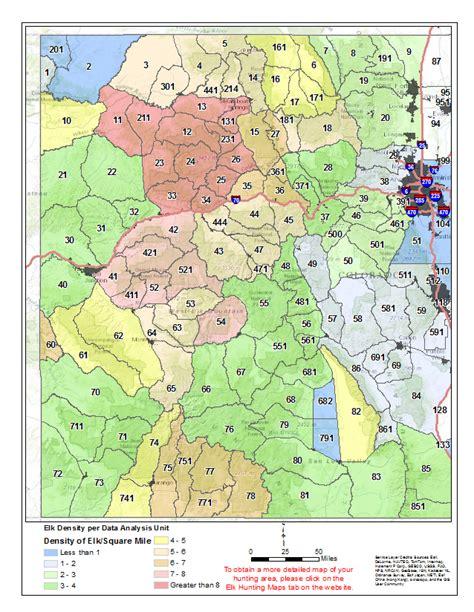 elk colorado hunting density areas maps wilderness hunt