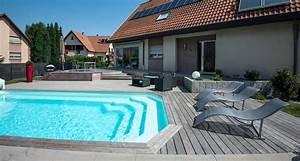 terrasse en lattes de bois avec piscine les nouveaux With piscine bois avec terrasse