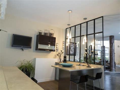 verri鑽e cuisine verriere separation cuisine salon maison design bahbe com