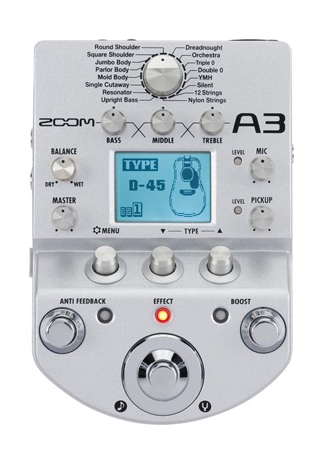zoom  pre amp effects  acoustic guitar zoom