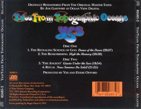 tales  topographic oceans  songs reviews