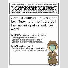 Context Clues Posters By Julia Lee  Teachers Pay Teachers