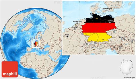 15.08.2020 · germany on a world wall map: Flag Location Map of Germany, shaded relief outside