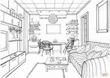 Coloring Living Pages Drawing Interior Kitchen Ball Printable Zeichnen Luminous Perspective Zimmer Supercoloring Drawings Modern Adult Ausmalen Sketches Colorings Ausmalbilder sketch template