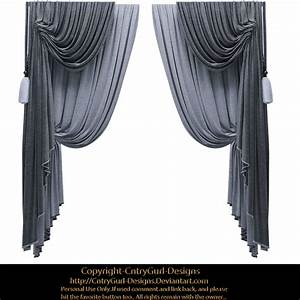blue drapes 01 by cntrygurl designs on deviantart With ceiling drapes png