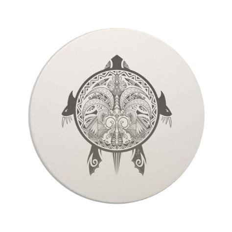 tribal turtle shield tattoo drink coaster zazzlecom