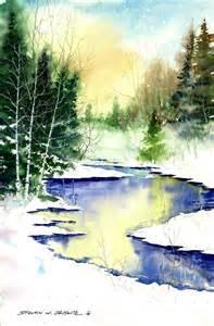 Winter Art Watercolor Paintings