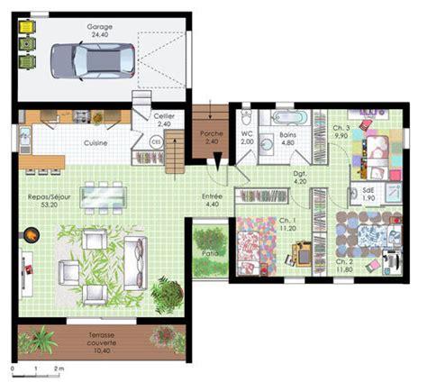 plan maison 4 chambres maison contemporaine en bois dé du plan de maison